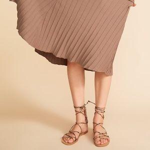 NWT Zara Animal Print Gladiator Sandals